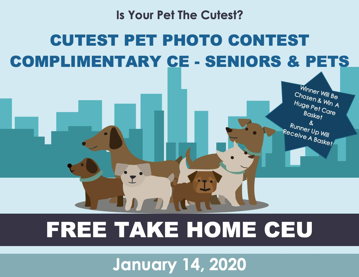 Cutest Pet Photo Contest at The Woodlands Health and Rehab Center