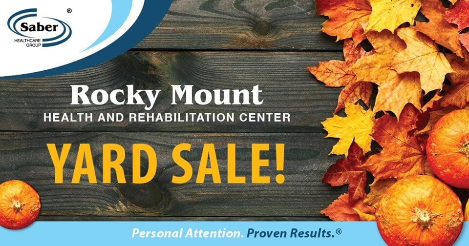 Yard Sale Fundraiser at Rocky Mount Health & Rehab