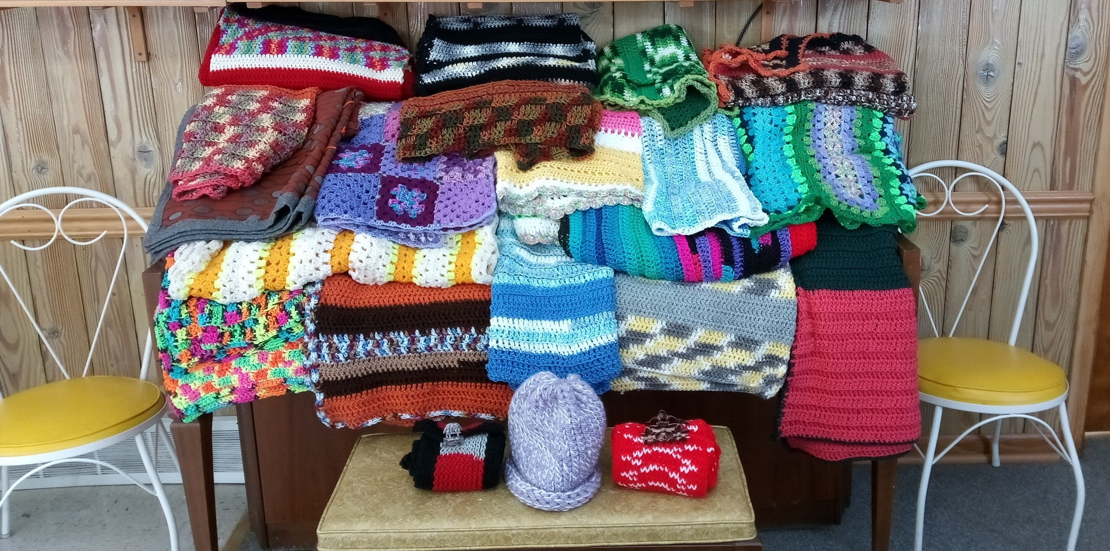 Local Senior Center Donates Hand-Knitted Wheelchair Blankets