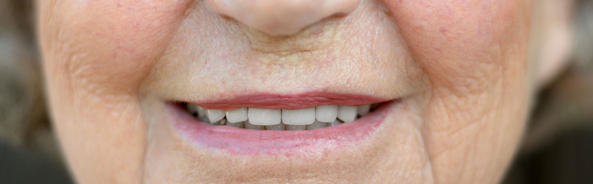 Woman's smiling lips