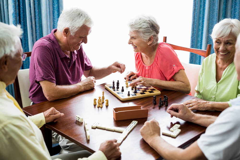Chess match in Hospice Care
