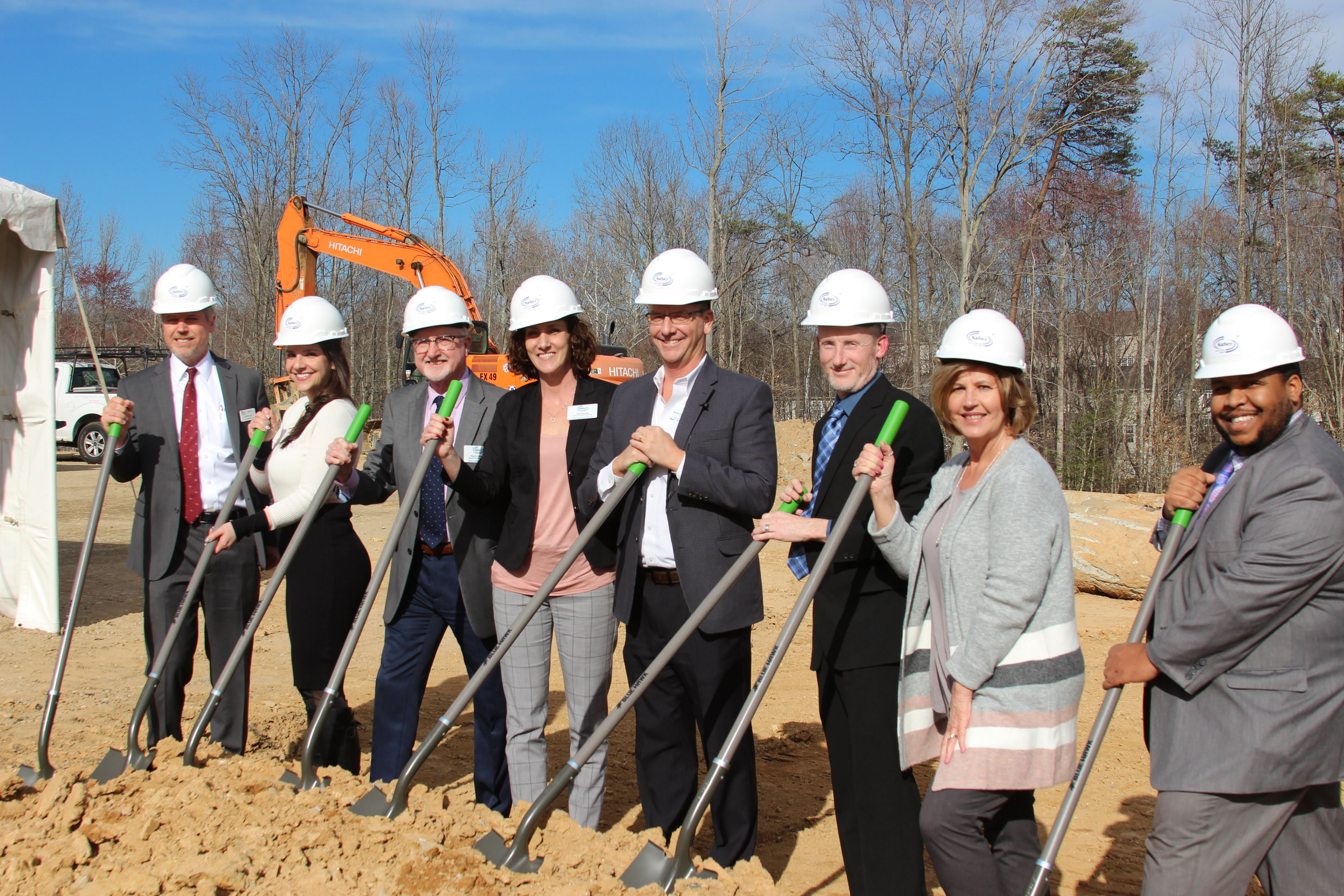 Executives from Saber Healthcare Group joined local officials to break ground on Saber's new healthcare facility Berea Health & Rehabilitation Center in Fredericksburg.